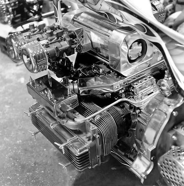 Roots Supercharger Carbs: The Unholy Six Corvair Powered Motorcycle